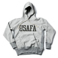 NON STOCK US Air Force Academy Hoodie Retro Sportwear Men's Sweater Gray