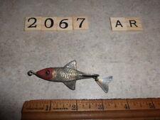 T2067 Ar Vintage Fred Arbogast Tin Liz w/ Glass Eyes Fishing Lure