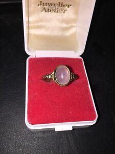 333 Gold Ring Mondstein 1,8 Gramm 63/20 mm Goldring