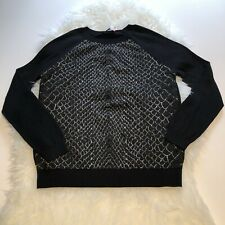 Marks /& Spencer M/&S Animal leopard Knit Round Neck Jumper Cardigan Black