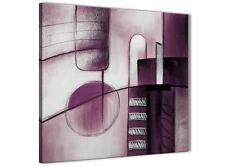 Plum Grey Painting Hallway Canvas Pictures Decor - Abstract 1s420m - 64cm