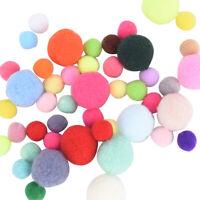 100 pcs DIY Crafts Colourful Mini Fluffy Pom poms Ball Felt 10mm 20mm IJ