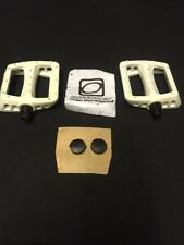 "NOS ODYSSEY MX TWISTED WHITE PC 9/16"" BMX FREESTYLE PLATFORM PEDALS GT SE HARO"