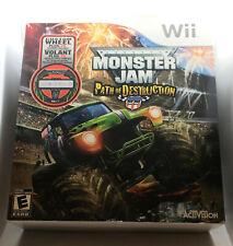Monster Jam Path of Destruction - Includes Custom Wheel - Sealed Unopened - Wii