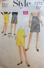 VTG 60s Style Sewing Skirt Pattern With Dior Pleat Waist 27 Hip 38 2272