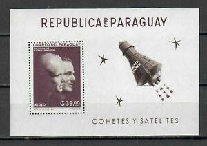 s22726) PARAGUAY SPACE 1962 MNH** Space exploration S/S