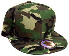 Green Camo Snap Back Flat Brim Baseball Caps 1Pc or 6 Pc Lot ( E7509-14)