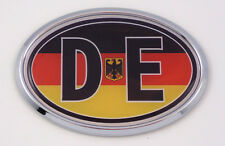 Germany DE Deutschland Car Chrome Emblem Bumper Sticker flag decal oval German