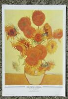 Vintage print - The Sunflowers by Vincent Van Gogh - ready to frame fine art