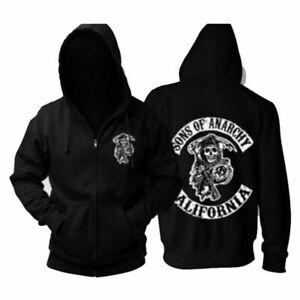 Sons of Anarchy Uomo kapuzenpuzllover SAMCRO ORIGINALE Hooded Sweater Nero