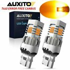 Auxito Amber 74437440 Led Front Turn Signal Light Bulbs No Hyper Flash Canbus A