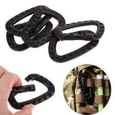5x Plastic Carabiner D Ring Key Chain Clip Hook Outdoor Camping Buckle Snap