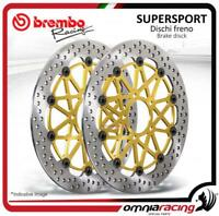 2 discos Freno frente Brembo Supersport 320mm Kawasaki ZX6R/ ZX6RR 2005>