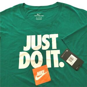 Nike Men's 4xlt 4xl Green White T Shirt Tee Tall 100% Cotton JDI NWT 102621626