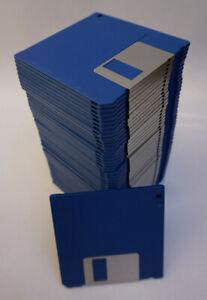 "50x OEM 3½"" Floppy Discs 2S DD Double Density Disketten blau NEU"