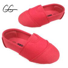 Infant Toddler Kids Girls Slip On Canvas Shoes Size 4,5,6 New
