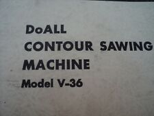 DoAll Replacement Parts Manual for V-36 Contour Sawing Machine. 1936 - 1941 139