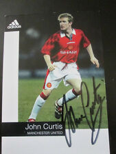 Manchester United 1996 John Curtis Signed Football Photo Card  /bi