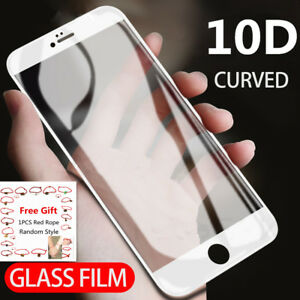 Full Cover Curved Tempered Glass Screen Protector For iPhone 13 12 11 XS SE 7 XR