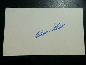 Woody Held Signed Index Card with COA