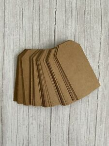 Plain Rustic Kraft Brown Gift Tags For Wedding/Labels/Craft - Set Of 25 8cmx4cm