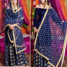 Indian velvet kameez pakistani Designer latest Bollywood lehenga Dress dupatta