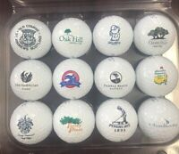 1 Dozen (Famous Golf Courses Logos) Titleist Pro V1 Mint Collectors Golf Balls