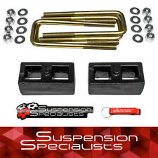 "1988-1998 Chevy Silverado GMC Sierra 1500 1"" Rear Lift Kit Blocks w/ U-Bolts 2WD"