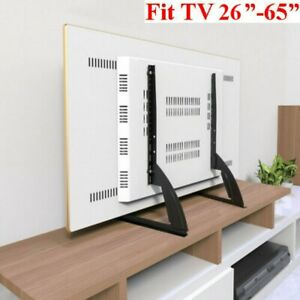 """26""""- 65"""" Table-top Universal TV Stand Base Mount for Samsung LG Vizio Sony Flat"""