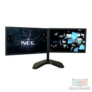 Matching Dual 22inch Monitor w/Heavy Duty Stand &Dock NECVE223W Full HD