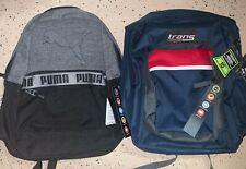 LOT OF 2 Puma & Trans By JanSport Men's Backpack School Travel Laptop Bag NEW