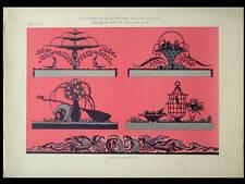 DESSUS DE PORTES, ORNEMENTS -1924- LITHOGRAPHIE, FREY