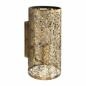 ENDON Secret Garden 40W E14 Wall Light Dimmable Antique Brass Finish 70105