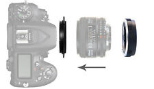 58mm Adattatore INVERSIONE MACRO per Nikon Al F Mount Lens + Filtro di Protezione Anello UK
