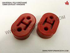 "Universal Polyurethane Muffler Exhaust Hanger Hangers 2pcs Red 10MM - 7/16"""