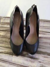 Brand New Carvela Kurt Geiger Black Leather Platform Stilletto Zip Heel Size 4