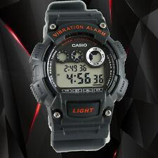 Casio W735H-8AV Black Super Illuminator Alarm 10 Year Battery Watch Brand New