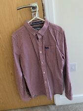 Superdry Red Check Shirt Size Small