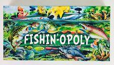 FISHIN'-OPOLY Fishing Monopoly Board Game EUC W/Box Fishing Hook Line Sinker