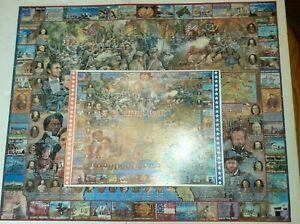 "Vintage 1994 White Mountain Puzzles  The Civil War 1000 Piece  24""X30""  Complete"