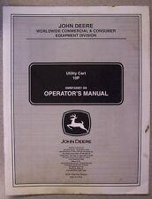 JOHN DEERE OPERATOR'S MANUAL 10P UTILITY CART OMM155001 G9