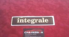 adesivo scritta posteriore LANCIA DELTA HF INTEGRALE sticker resinato STEMMA
