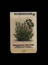 VINTAGE ROUDABUSH'S HOREHOUND SEED PACKET 10 CENTS