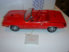 1970 Plymouth Hemicuda - Convertible - The Franklin Mint - 1:24 Scale, Red