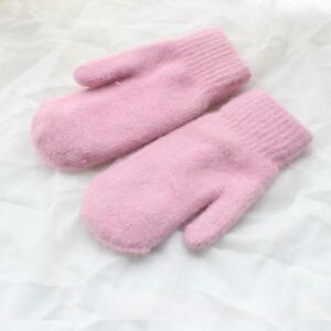 Winter Soft Warm Double Layer Full Fingers Mittens For Women