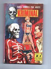 KRIMINAL n°9. 3e trimestre 1967 - Editions de Poche.