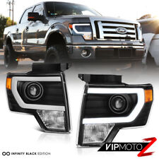 "2009-2014 F150 Lobo ""FiBer OptiC"" Neon Tube Projector Head Lights Assembly PAIR"