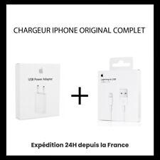 CHARGEUR PRISE CABLE APPLE USB 1M POUR IPHONE 5 / 6 / 7 8 / X /XR / XS /VMAX /11