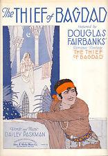 """THIEF OF BAGDAD Sheet Music """"The Thief Of Bagdad"""" Douglas Fairbanks"""