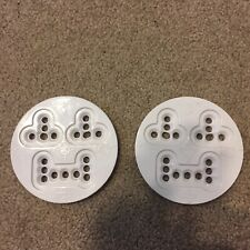 Burton Bindings Uni Disc fits 3 And 4 Hole White Snowboard Parts